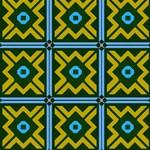 Rhombus in squares pattern