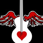 Flying Heart Guitar