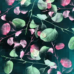 modern green and pink leaves