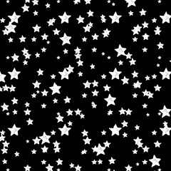 black and white starry pattern