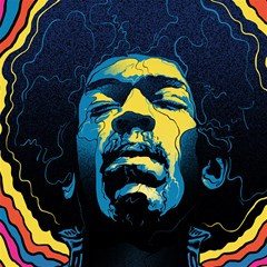 gabz jimi hendrix voodoo child poster release from dark hall mansion