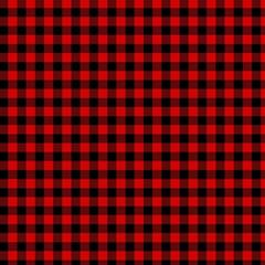 lumberjack plaid fabric pattern red black