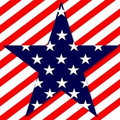 patriotic usa stars stripes red