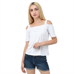 Cutout Shoulder Tee Icon