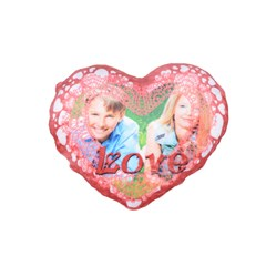 Standard 16  Premium Flano Heart Shape Cushions Icon
