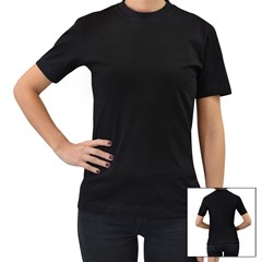 Women s T-Shirt (Black) (Two Sided) Icon