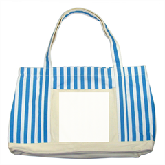 Striped Blue Tote Bag Icon