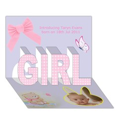 GIRL 3D Greeting Card (7x5) Icon
