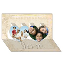 Twin Hearts 3D Greeting Card (8x4) Icon
