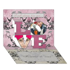 LOVE 3D Greeting Card (7x5) Icon