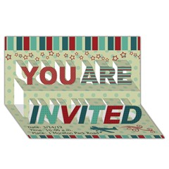 YOU ARE INVITED 3D Greeting Card (8x4) Icon