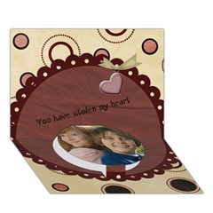 Circle Bottom 3D Greeting Card (7x5) Icon