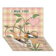 LOVE Bottom 3D Greeting Card (7x5) Icon