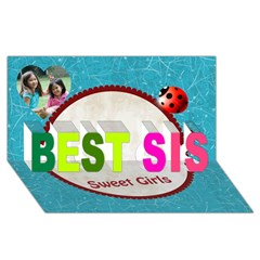 BEST SIS 3D Greeting Card (8x4) Icon