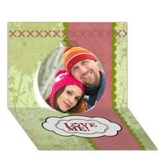 Circle 3D Greeting Card (7x5) Icon