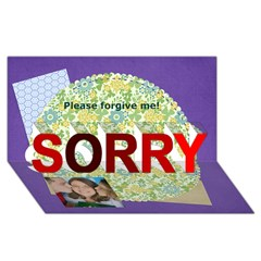 SORRY 3D Greeting Card (8x4) Icon