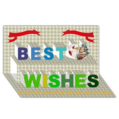 Best Wish 3D Greeting Card (8x4) Icon