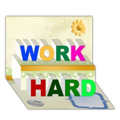 WORK HARD 3D Greeting Card (7x5) Icon