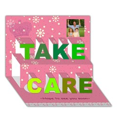 TAKE CARE 3D Greeting Card (7x5) Icon