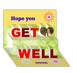 Get Well 3D Greeting Card (7x5) Icon