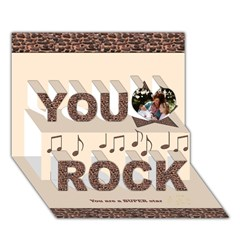 You Rock 3D Greeting Card (7x5) Icon