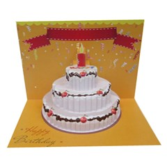 Birthday Cake 3D Greeting Card (7x5) Icon