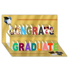 Congrats Graduate 3D Greeting Card (8x4) Icon