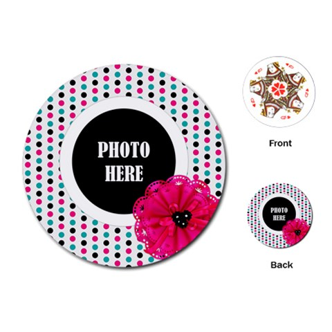 Color Splash Round Playing Cards 1 By Lisa Minor   Playing Cards (round)   Jyokvtgxl9py   Www Artscow Com Front