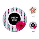 Color Splash Round Playing Cards 1 - Playing Cards (Round)