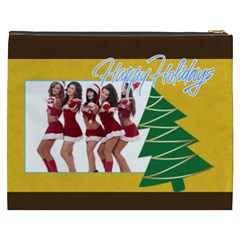 Merry Christmas, Happy New Year, Xmas By Angena Jolin   Cosmetic Bag (xxxl)   Ipd1ag9gwjt1   Www Artscow Com Back