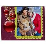 merry christmas, happy new year, xmas - Cosmetic Bag (XXXL)