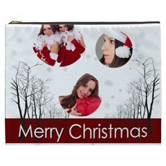 Merry Christmas, Happy New Year, Xmas By Angena Jolin   Cosmetic Bag (xxxl)   B8lmxec3jts8   Www Artscow Com Front