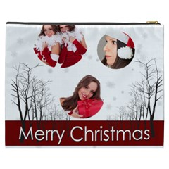 Merry Christmas, Happy New Year, Xmas By Angena Jolin   Cosmetic Bag (xxxl)   B8lmxec3jts8   Www Artscow Com Back