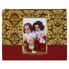 Merry Christmas, Happy New Year, Xmas By Angena Jolin   Cosmetic Bag (xxxl)   6ry53us8yueh   Www Artscow Com Front