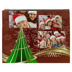 Merry Christmas, Happy New Year, Xmas By Angena Jolin   Cosmetic Bag (xxxl)   9y2txecjyk0z   Www Artscow Com Front