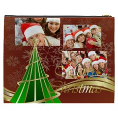 Merry Christmas, Happy New Year, Xmas By Angena Jolin   Cosmetic Bag (xxxl)   9y2txecjyk0z   Www Artscow Com Back