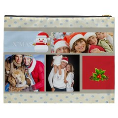 Merry Christmas, Xmas, Happy New Year  By Angena Jolin   Cosmetic Bag (xxxl)   H7zcfwrie2uy   Www Artscow Com Back