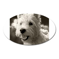Westie Puppy Large Sticker Magnet (oval)