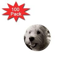 Westie Puppy 100 Pack Mini Magnet (round) by Koalasandkangasplus