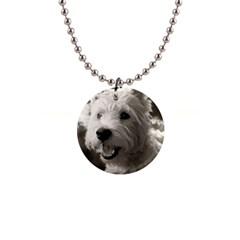 Westie Puppy Mini Button Necklace by Koalasandkangasplus