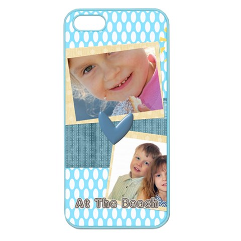 At The Beach By Jo Jo   Apple Seamless Iphone 5 Case (color)   Zsqi755cacj6   Www Artscow Com Front