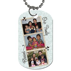 Double Sided Family By Audrey Purwadihardja   Dog Tag (two Sides)   3uu005dasscm   Www Artscow Com Front