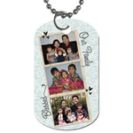 double sided family - Dog Tag (Two Sides)
