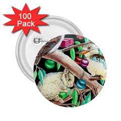 Christmas Kooka Twins  100 Pack Regular Button (round)