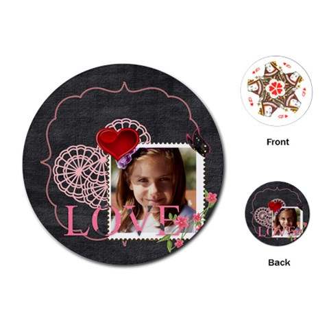 Love By Joely   Playing Cards (round)   Dtu8rc3sk96i   Www Artscow Com Front