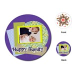 happy family - Playing Cards (Round)