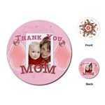 thank you mom - Playing Cards (Round)