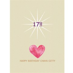 Chaya G Bday Card By F Blau   Greeting Card 4 5  X 6    Muw960akxe0q   Www Artscow Com Back Cover
