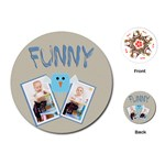 kids, fun, child, play, happy - Playing Cards (Round)