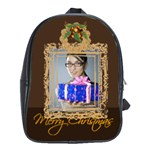 merry christmas, happy new year, xmas - School Bag (Large)